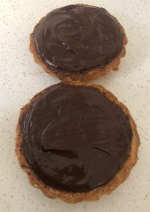 Chocolate and Peanut Rice Crust Tart recipe