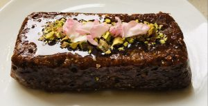 Pistachio Yoghurt Chia Slice With Rose Syrup